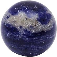 Harmonize Crystal Reiki Lapislázuli Piedra azul de la esfera de la bola de equilibrio de vector de la decoración