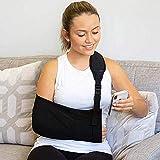 LQBZG- Armschlinge - Gurt für gebrochenen und gebrochenen Stützgurt, medizinische Schlinge - Verstellbare Unterarm- und Schulterstütze am Handgelenk