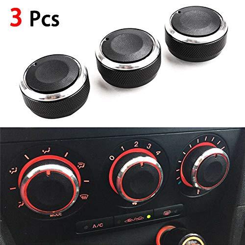 PoeHXtyy 3 STÜCKE Auto Klimaanlage Heizung Radio Video Control Switch Knob Ersatz (Mazda 3 2007-radio)