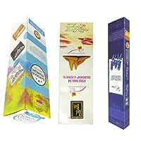DCS Natural Incense sticks - Combo of Era Lavender,Premium Droop Cones & Darshan Premium Cones (Set of 3)