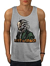 Wellcoda Lost in Space Men S-2XL Tank Top