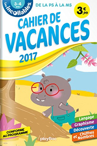 Cahier de vacances Incollables - PS à MS
