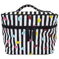 Lulu Guinness Stripe Confetti Lip Laminate Cosmetic Vanity Case RRP £65.00