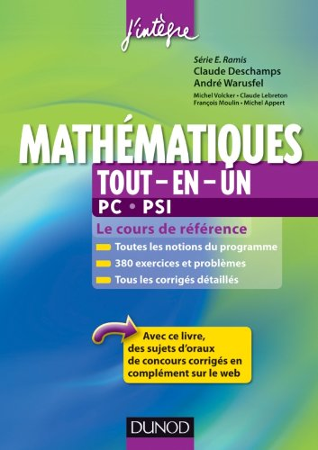 Mathématiques tout-en-un PC-PSI - Le cours de référence par Claude Deschamps