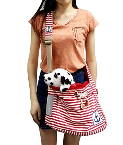 Kostüm Maus Hunde Für - Ylen Streifen Anker Haustier Reise-Träger Rucksack Transporttasche Hundetasche Katzentasche Umhängetasche für Kleine Hunde und Katzen