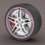 Rimblades Legierung Rad Edge Ring Felge Protektoren Reifen Reifen Schutz Gummi Form - Pink Rimblades