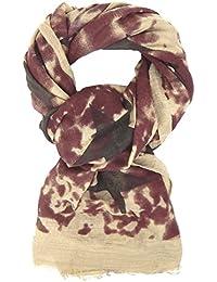 76b3e92b1bea Ella Jonte FOULARD ÉCHARPE FEMME by à étoiles tendance bordeaux beige et  noir imprimé camouflage…