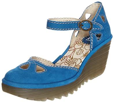 FLY London Women's Yuna Open Toe Sandals blue Size: 2.5