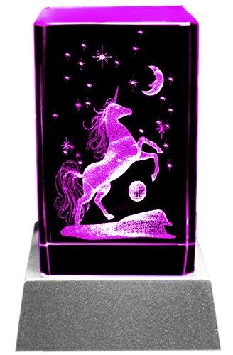 Kaltner-Prsente-Mood-Light-Glass-Block-3D-Laser-Crystal-with-LED-Lighting-Unicorn-Design