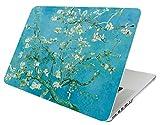 octobre Elf MacBook Pro 38,1cm avec écran Retina Coque rigide de protection Etui folio 2en 1avec manchon pour modèle: A1398 Almond flowers