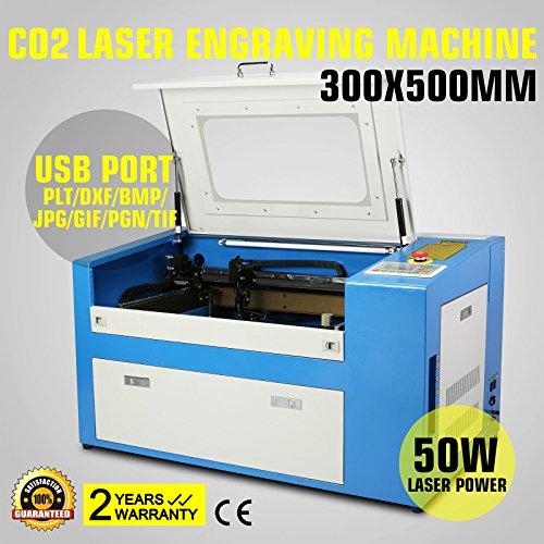 Preisvergleich Produktbild FurMune Laser Graviermaschine Laser Gravur Maschine Co2 Laser Engraving Machine USB Schnittstelle 50W Präzise und Schnelle (50W)