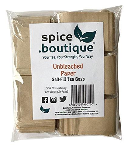 Spice.Boutique - Tetera de Papel sin blanquear, sin plástico, tamaño de una...