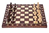 SQUARE GAME Schach Schachspiel - Senator LUX - 41 x 41 cm - Schachfiguren & Schachbrett aus Holz