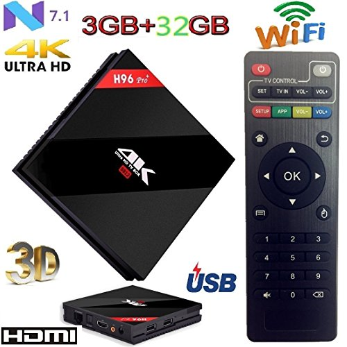 Android TV Box 7 1 penkou H96 Pro Plus 3 GB + 32 GB with