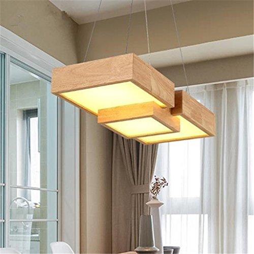 Holz-kronleuchter (Modern Deckenlampe LED Restaurant Kronleuchter Holz Pendelleuchte LED Hängeleuchten Esstisch Deckenleuchte Holz Und Metall Hängeleuchte Deckenleuchte Balkon Schlafzimmer ( Farbe : B ))