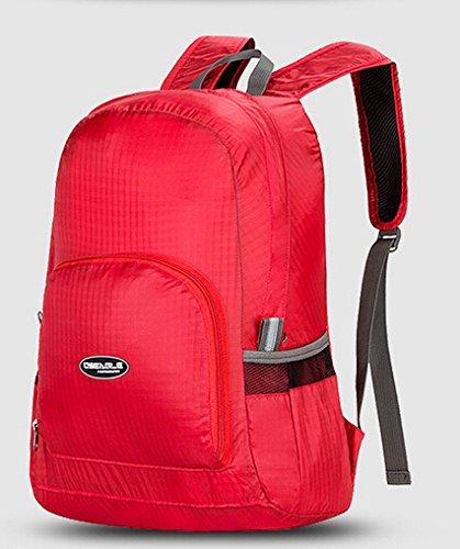 Cinny Ultra leichten und tragbaren klappbare Nylontasche wasserdichte outdoor-Sport für Männer und Frauen Red
