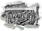 Monocrome, Dubai Hotel Burj al Arab Papier im 3D-Look, Wand- oder Türaufkleber Format: 92x62cm, Wandsticker, Wandtattoo, Wanddekoration