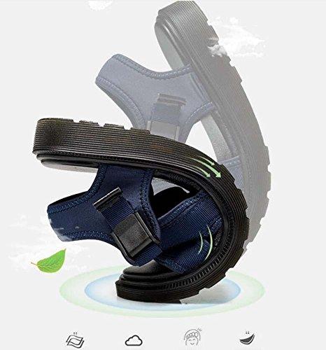 Pompa Uomini Aprire il piede Coppia All'aperto Sport sandali Sandali romani Cavo Panno tessuto stretto Antiscivolo Sole morbido Sandali da spiaggia Scarpe casual Sandali di coppia Formato Eu 35-44 Black