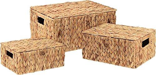 Home @ Styling Collection 3X Aufbewahrungsbox aus natürlicher Wasserhyazinthe (Home-styling)