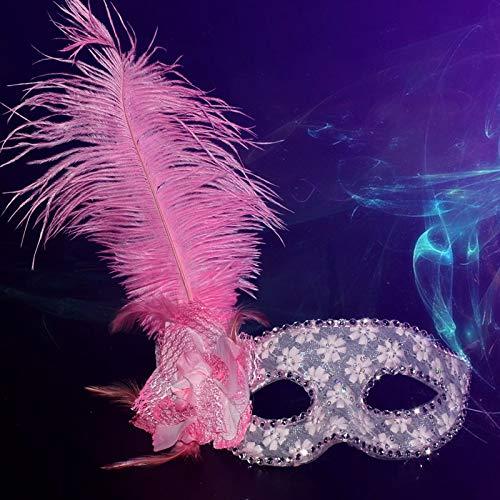 Weiblich Halloween Maske - Mask- Kinder Maskerade halbe Gesichtsmaske weibliche