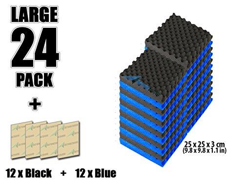 super-dash-lot-de-24-de-25-x-25-x-3-cm-combinaison-bleu-noir-insonorisation-egg-crate-acoustique-dis