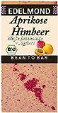 Edelmond Bio Aprikose Himbeere Schokolade. Echte Früchte in der Tafel, keine künstlichen Aromen. Süßigkeit ohne Soja Emulgatoren, ohne Lecithin. (1 Tafel)