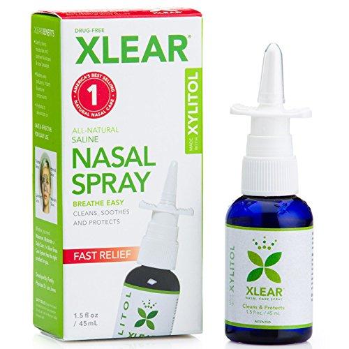 xylit saline nariz Spray, rápida Alivio, 1,5FL oz (45ml)–xlear