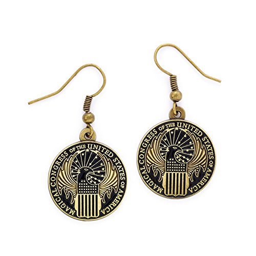 Fantastic Beasts Magical Congress Earrings (antique brass plated) Carat Shop Orecchini