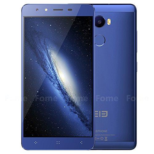 "Elephone C1,4G Smartphone Android 6.0 Octa Core MTK6737 5.5 ""1.3 GHz 2 GB de RAM 16 GB de ROM dual de las c¨¢maras de 2MP 13 MP (Azul)"