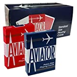 Shop4top 12 Decks Aviator Standard Index Playing Cards 6 Red 6 Blue Sealed Box Case USPCC