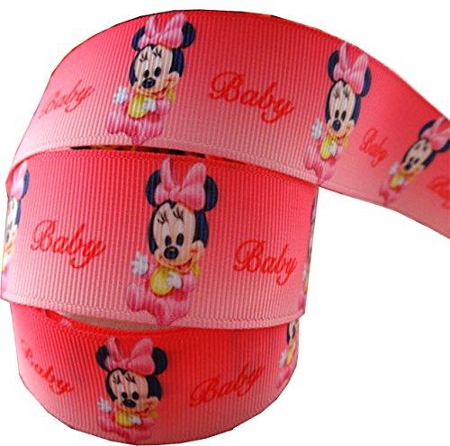 2m x 22mm Cute Pink Baby Disney Minnie Maus Band für Baby-Duschen, Kuchen, Taufen, Geschenkpapier, Presents (Baby Minnie Maus Baby-dusche)
