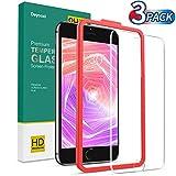 Deyooxi 3 Pezzi Vetro Temperato per iPhone 6S/iPhone 6 /iPhone 7/iPhone 8,Pellicola Protettiva in Vetro Temperato Screen Protector Film,Protezione Schermo,Anti-graffio,Anti-Impronta
