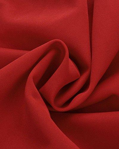 ZANZEA Femmes Sexy élégant Col V Dentelle Mini Robe Partie Cocktail Courte Dress Soirée Rouge
