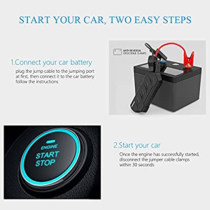 51bdU0q9C9L. SS416  - CYCMIA 600A Peak 15000mAh Car Jump starter Auto Battery (Up to 6.0L Gas or 4.0 Diesel Engines) High capacity Portable Charger phone Power bank with Multiple Protected Smart Clamp