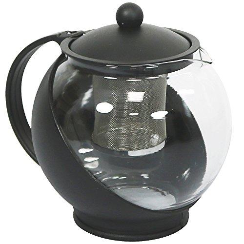 Com-Four Théière en verre résistant à la chaleur avec filtre utilisation dans différents Designs 01 Stück - 1.25 Liter Design 1