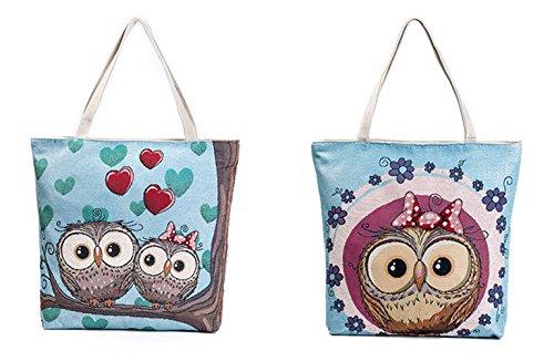 Schultertasche,Cloud-Y Damen Canvas Leinwand Rucksack Umhängetasche Messenger Bag Schultertasche Beiläufige Tasche 609c