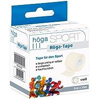 Höga-Tape, weiß - 5 cm x 10 m, längs- und quer reißbar, unelastisch, hautfreundlich, Sport-Tape preisvergleich bei billige-tabletten.eu