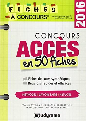 Concours accès en 50 fiches 2016