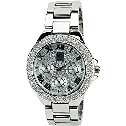 GG LUXE- Damen ArmbanduhrSilber Quarz Stahl Analog Display Typ Water resist 3 ATM stilvoll sport Mode Armband SilberStahl