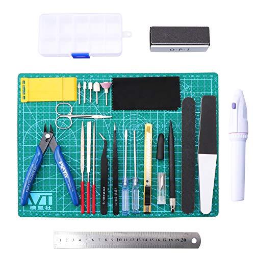 Wimas 26pcs kit di strumenti modello gundam kit, di costruzione hobby per edificio di base per la riparazione e il fissaggio di modelli