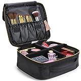 Lifewit Kosmetikkoffer Kosmetiktasche mit verstellbaren Trennern Reisetasche Makeup Tasche mit B¨¹rstenhalter, Schwarz