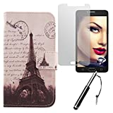 Lankashi Stamp Tower 3in1 PU Flip Leder Tasche Für Alcatel One Touch Pop 4S 5.5