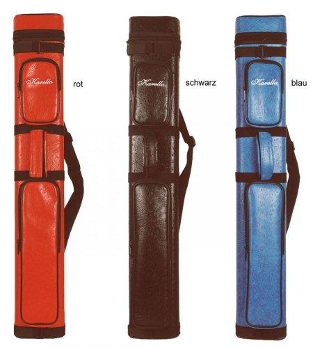 Original Köcher Karella 3/5 Billard Queue Tasche - ein Klassiker, Farbe:rot -
