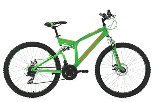 KS Cycling Mountainbike Mtb Xtraxx RH 46 cm Fahrrad, Grün/Orange, 26