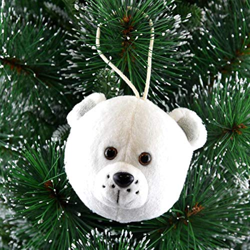 Weihnachtsplüsch Eisbär klein Kugel