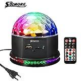 Discokugel LED Partylicht Discolicht, SOLMORE Magic Musik Discokugel Disco Projektor Lichteffekte...