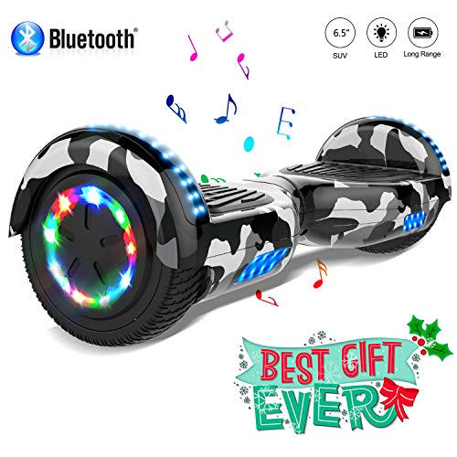 COLORWAY Overboard Hover Scooter Board Gyropode Bluetooth 6.5 Pouces, Scooter Electrique Moteur 700W Tout-terrain, Self-balance Board avec Roues LED Flash, E-Scooter Auto-équilibrage