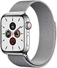 Compatible with Apple Watch Bands 44mm 42mm, Adjustable Stainless Steel Metal Mesh Loop Bracelet Wristbands St