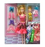 #3: Fashion Barbie with Baby Barbie & Shoes Set