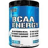Evlution Nutrition BCAA ENERGY | Integratore In Polvere Di Amminoacidi Ramificati Per Alto Rendimento Resistenza Recupero Aumento Muscoli | Confezione Da 30 Dosaggi Al Gusto Lampone Blu